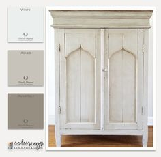 DIY: How to Get this Monochromatic Paint Finish using Pure & Original Chalk Paint - via Leslie Stocker, Colorways - Jelly Cabinet Chalk Paint Furniture, Furniture Projects, Furniture Makeover, Diy Furniture, Whitewash Furniture, Wood Refinishing, Shabby, Couleurs Annie Sloan, Jelly Cabinet