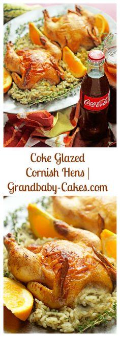 Coke Glazed Cornish Hens | Grandbaby-Cakes.com #ad