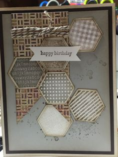 "Happy Birthday; Stampin Up ""Six Sided Sampler"""
