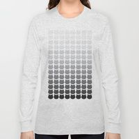Long Sleeve T-shirt featuring Mono Cats by Megan Hillier