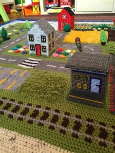 """Someone else's version of """"The Road Playmat"""" A free CAL - By: Happy Berry Crochet >>> http://happyberrycrochet.blogspot.co.uk"""