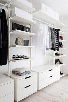 Dressing Room – Dressing Room – Ikea – Stolmen – Closet … - Home creative ideas Stolmen Ikea, Algot Ikea, Elvarli Ikea, Ikea Closet, Room Closet, Walk In Closet Design, Closet Designs, Closet Interior, Craft Storage Ideas For Small Spaces