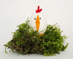 Easter DIY hens out of blown out eggs