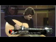 """Finally seein Leo tonite at Benaroya Hall! """" The great Leo Kottke - The Driving Of The Year Nail, check out the speed of the harmonics he throws in to his blazing fast picking, on a no less! Music Mix, My Music, 12 String Guitar, My Father, Acoustic Guitar, Athens, Guitars, Leo, Music Videos"""