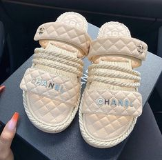 Cute Sandals, Shoes Sandals, Shoes Sneakers, Chanel Sandals, Beach Sandals, Dress Shoes, Sneaker Heels, Flats, Pumas Shoes