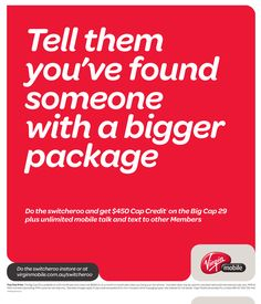 Poster : Virgin Mobile Valentines Day Advertisement.