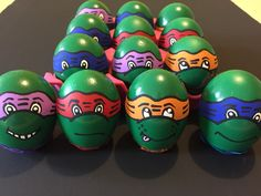 Ninja Turtles Confetti Eggs, Easter 2015, Egg Basket, Basket Ideas, Ninja Turtles, Rock Painting, Painted Rocks, Ideas Para, Easter Eggs