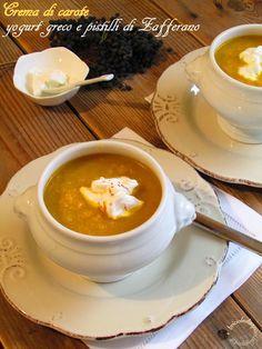 Briciole di Sapori           : Crema di carote, yogurt greco e pistilli di zaffer...