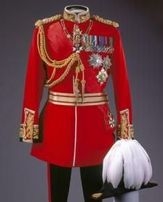 Uniform of a British Field Marshall, very similar to the uniform in 1893.