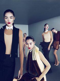Liu Wen, Shu Pei, Fei Fei Sun, Ming Xi & Xiao Wen Ju in sleek images by Mert and Marcus