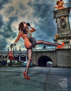 La Parisienne: Ruby Aldridge By Taki Bibelas For L'officiel Paris August 2013