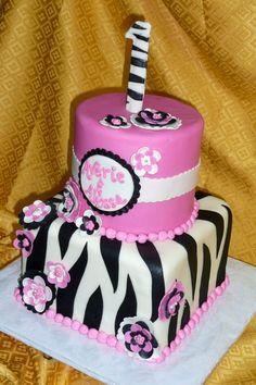 Zebra Flowers First Birthday