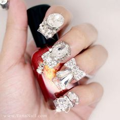 Japanese 3D Nail Art Press On Nails False Nails  by tanacollection, $38.00, is it weird I like these?