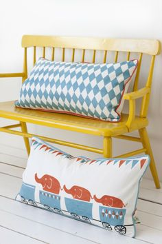 Is the circus your decoration inspiration? Check out this Ferm Living Tiny Train Organic Cotton Pillow, available at Cute Pillows, Bed Pillows, Bench Cushions, Cushion Pillow, Kids Furniture, Painted Furniture, Deacons Bench, Elephant Pillow, Chaise Vintage