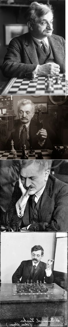 Emanuel Lasker. World chess champion	(1894–1921).