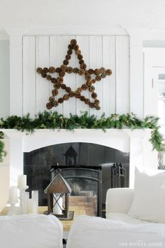 Happy December! It's Emily here from, The Wicker House, and today I wanted to share with you this large pinecone star I made to go on our fireplace mantel this holiday season. To make my pinecone star I started off with five yardsticks. I have been collecting these yardsticks for a while now, some of...Read More »