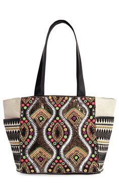 Steven by Steve Madden 'Daphnee' Beaded Tote available at #Nordstrom