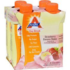 Atkins Day Break Rtd Shake Strawberry Banana - 11 Fl Oz Each / Pack Of 4