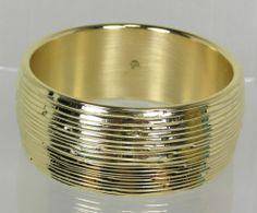 Oro Nuovo Round Bangle Bracelet 14k Yellow Gold Bold Textured QVC Average $336