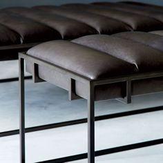 Fontanne Leather Ottoman - Rectangle | west elm