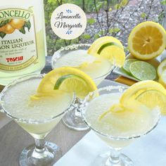 Limoncello Margarita is sweet, sour, light  refreshing. Limoncello, lime, Triple Sec  Tequila. Add a touch of sweetness and you have a gla...