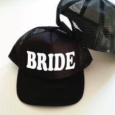 f94a08546c4 Bride Trucker Cap. Bride Hat. Bridal Shower Gift. Bride Gift. Bachelorette  Party