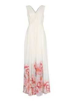 MANGO - Floral printed hems gown