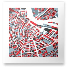 Map of Amsterdam by Coen Pohl, via Behance