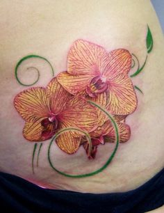 Yellow Orchids Tattoo tattoos | tattoos picture orchid tattoo