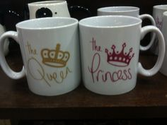 Cute coffee mugs from Barnes and Noble. Perfect for a mother/daughter trip to the palace!