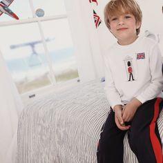 Buy Boys > Boys Nightwear > London Soldier Jersey Pyjamas from The White Company