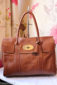 Mulberry Bayswater Natural Leather Bag In Oak Used Very Good Condition Ebay