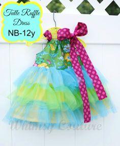 Tulle Ruffle Dress PDF Sewing Pattern nb-12 girls   YouCanMakeThis.com