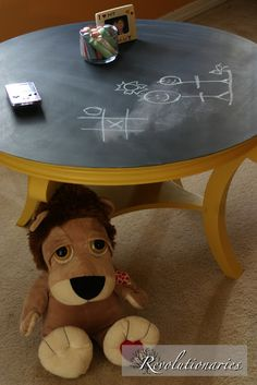 Good idea to use our beat-up coffee table