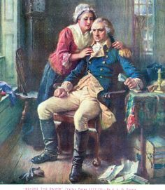 """Before the Dawn"" (Valley Forge 1777-78) by J.L.G. Ferris { George & Martha Washington }"