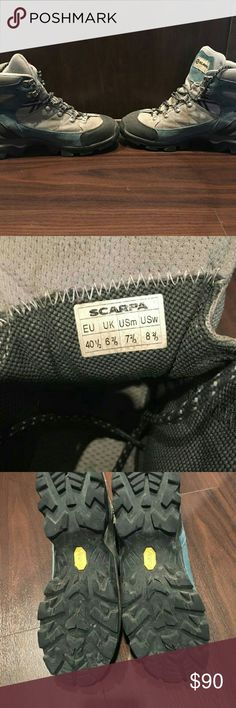 Scarpa Women's Hiking Boots Worn twice! In great condition! Sizing is European sizing,  but fits a women's 8.5. Scarpa Shoes