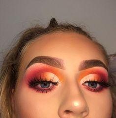 Smokey Eye Makeup Tipps in Hindi Schöne Augen Make-up von Kashee Best Eyeshadow, Pink Eyeshadow, Eyeshadow Makeup, Eyeshadow Palette, Orange Eyeshadow Looks, Cute Eyeshadow Looks, Smokey Eyeshadow, Eyebrow Makeup, Eyeshadow Guide