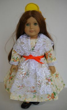 """Fits 18"""" American Girl doll Spain Spanish folk dress clothes A (COSTUME ONLY)"""