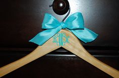 Monogram Personalized Hanger Perfect for Brides Bridesmaids Wedding Parties $10.00, via Etsy.