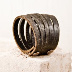 Black Leather Cuff Nice and Pretty +dreadstop @DreadStop