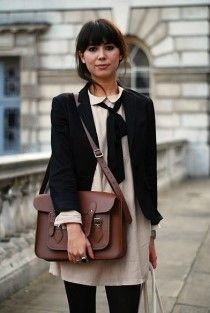 Tan skirt black cardigan
