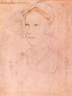 Putting this into the mix. This is Princess Mary, future Mary I, and she is NOT depicted with white straps. There could be a correlation between married/straps or motherhood/straps, as Mary was neither married nor a mother during this period. c. 1536    MaryTudorQueenEngland.jpg (450×600)