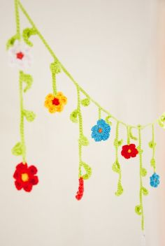 J o's Crochet Flower Garland How-To Skill level: Easy You need: someyarn (leftovers from other projects for example) a crochet hook th...
