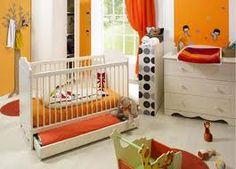 chambre de bébé blanche et orange - Recherche Google