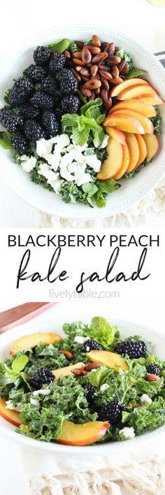Stone Fruit Kale Salad | Food - Vegetarian | Pinterest