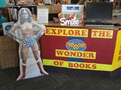 Super Heroes  library display