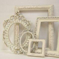 vintage cream antiqued frames...
