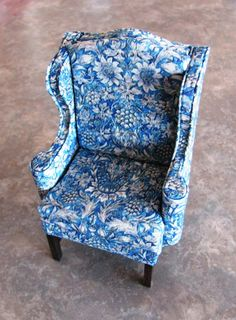 SALE Dollhouse Miniature Art Nouveau UPHOLSTERY by SydneyStyle, $8.00