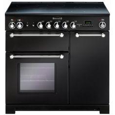 #Rangemaster KCH90ECBL/C #KITCHENER 90cm #Ceramic #Range #Cooker, #Black/Chrome
