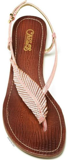 Pink feather sandals | LBV ♥✤ | BeStayBeautiful